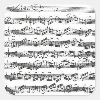 De Vierkante Sticker van het Manuscript van de