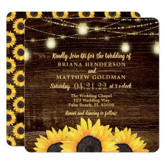 De vierkante Uitnodigingen van het Huwelijk van de