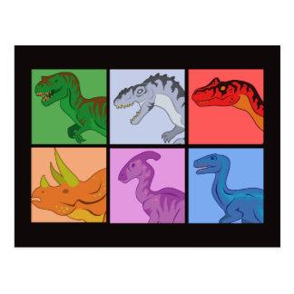 De Vierkanten van de dinosaurus Briefkaart