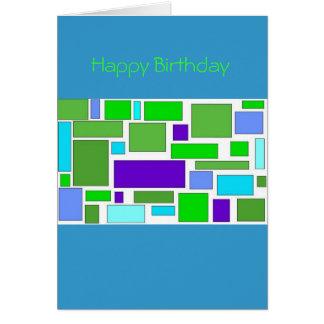 De Vierkanten van de verjaardag Kaart