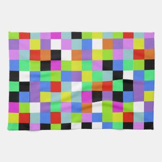 De Vierkanten van kleuren Handdoek