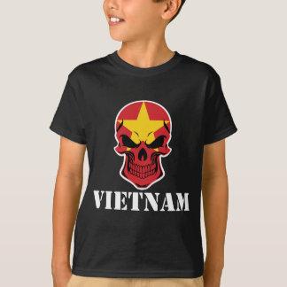 De Vietnamese Schedel Vietnam van de Vlag T Shirt