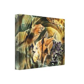De Vijver van de goudvis Canvas Print