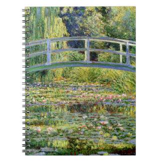 De vijver van de Waterlelie door Monet Fine Art. Ringband Notitieboek