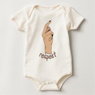 De vinger van de eerbied baby shirt