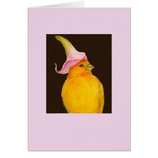 De vink van de saffraan/calla leliekaart wenskaart