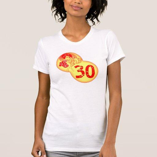 De vintage 30ste Giften van de Verjaardag Shirts