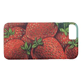 De vintage Aardbeien van de Patriot van de Kunst iPhone 8/7 Hoesje