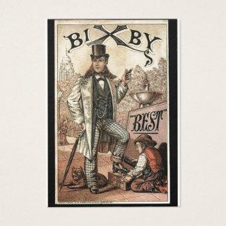 De vintage advertentie voor Schoen Bixby glanst Visitekaartjes