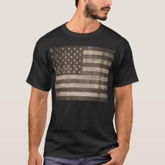 De vintage Amerikaanse T-shirt van de Vlag