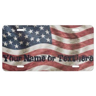 De Vintage Amerikaanse Vlag van de patriottische Nummerplaat