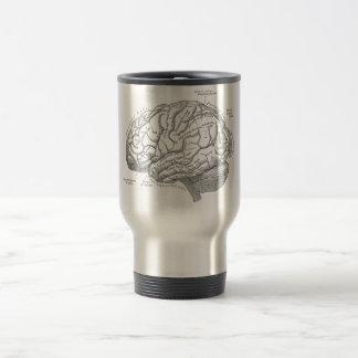 De vintage Anatomie van Hersenen Koffie Beker