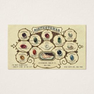 De vintage Antiek Ambacht van de Juwelier van Visitekaartjes