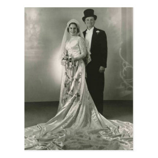 De vintage Antiek Romantische Foto's van de Bruid Briefkaart