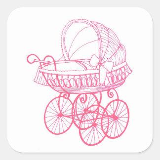De vintage Antiek Sticker van de Kinderwagen van