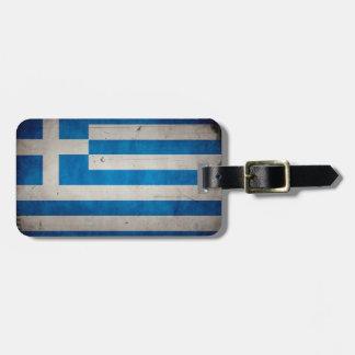De vintage Artistieke Vlag van Grunge Griekenland Bagagelabel