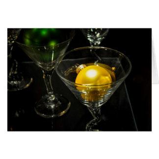 De vintage Bal Martini van het Ornament van de Kaart