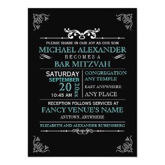 De vintage bar-Knuppel Mitzvah van het Poster van 13,9x19,1 Uitnodiging Kaart