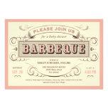 De vintage BBQ Uitnodigingen van het Baby shower