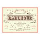 De vintage BBQ Uitnodigingen van het Baby shower 12,7x17,8 Uitnodiging Kaart