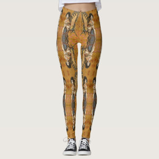 De vintage Beenkappen van de Geisha van de Vlinder Leggings
