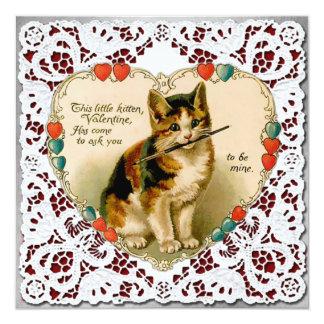 """De vintage """"ben Kaart van Valentijn van het Hart 13,3x13,3 Vierkante Uitnodiging Kaart"""