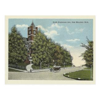 De vintage Berg Michigan van het Ijzer Briefkaart