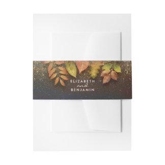 De vintage Bladeren en het Goud van de Herfst Uitnodigingen Wikkel