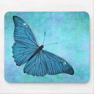 De vintage Blauwgroen Blauwe Illustratie van de Muismat