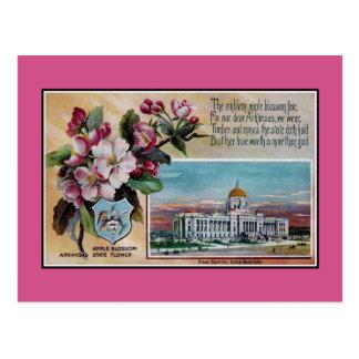 De vintage bloem van de Staat van Arkansas, Briefkaart