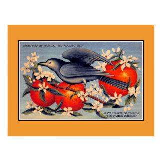 De vintage bloem van de Staat van Florida, Briefkaart