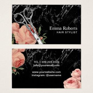 De Vintage Bloemen Elegante Marmeren Salon van de Visitekaartjes