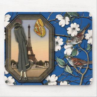 De vintage Bloemen en Collage Mousepad van de Muismatten