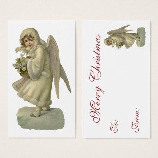 De vintage Bloemen van de Engel van Kerstmis, de Visitekaartjes