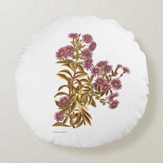 De vintage Bloemen van de Wetenschap NZ - Rond Kussen