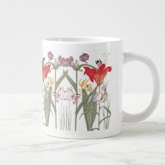 De vintage Botanische Lelie bloeit JumboMok Grote Koffiekop