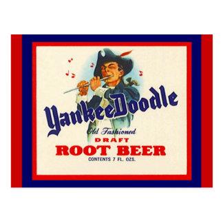 De vintage Briefkaarten van het Bier van de Wortel