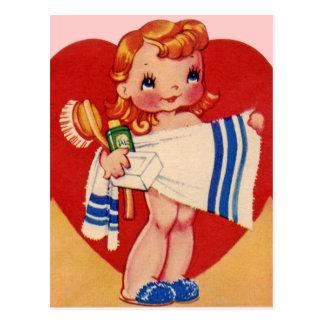 De vintage Briefkaarten van Valentijn Briefkaart