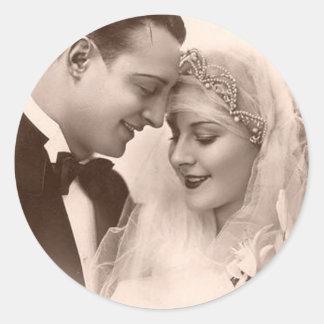 De vintage Bruid en de Bruidegom van het Huwelijk