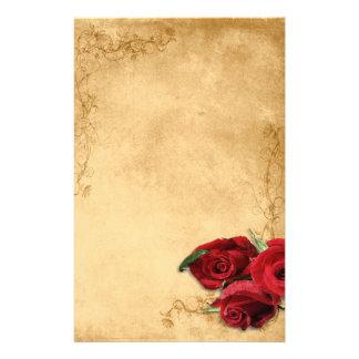 De vintage Bruine Karamel & nam Huwelijk toe Briefpapier