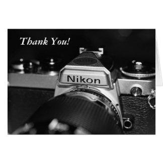 De vintage Camera dankt u kaardt Kaart