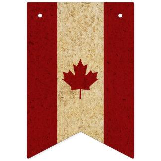 De vintage Canadese Vlag van het Blad van de Vlaggetjes