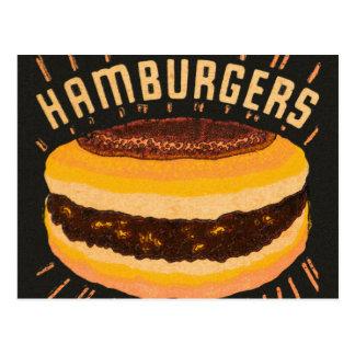 De vintage Cheeseburger Matchbook van de Briefkaart