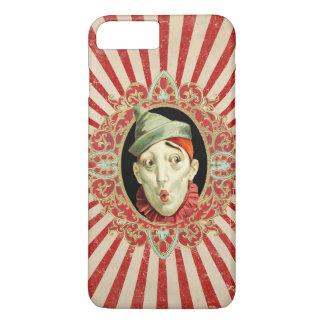 De vintage Clown van het Circus met Rode iPhone 8/7 Plus Hoesje