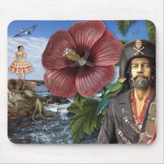 De vintage Collage van de Piraat Muismatten