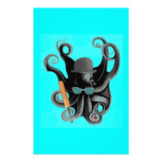 de vintage cricketspeler van de steampunkoctopus briefpapier