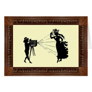De vintage Dag van het Afbeelding van het Silhouet Kaart