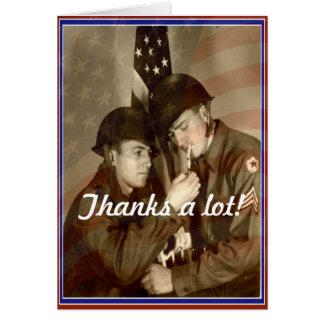 De vintage Dag van Veteranen, hartelijk dank! - Kaart
