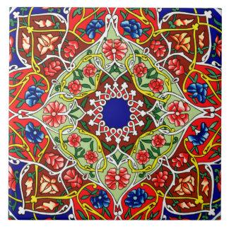 De vintage Decoratieve Tegel van het Ontwerp Tegeltje Vierkant Large