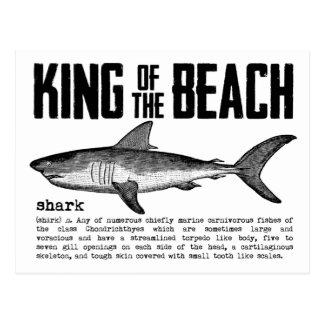 De vintage Definitie van de Haai van de Koning van Briefkaart